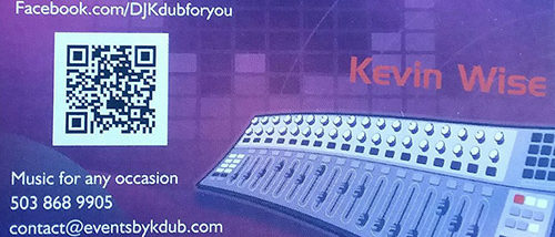 Events by Kevin Wise; Events by Kdub; Oregon DJ; Wedding DJ; Professional wedding mc; Dance Wedding Reception;