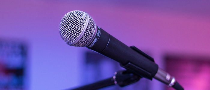 Events by Kdub; DJ Microphone; Event DJ Microphone up close; Various music