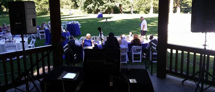 Events by Kdub; DJ Services for Weddings; Oregon DJ; Event DJ Microphone up close; Various music